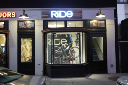 New Riide storefront, 9th St. NW